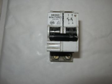 WYLEX HB260 60 AMP DOUBLE POLE MCB CIRCUIT BREAKER